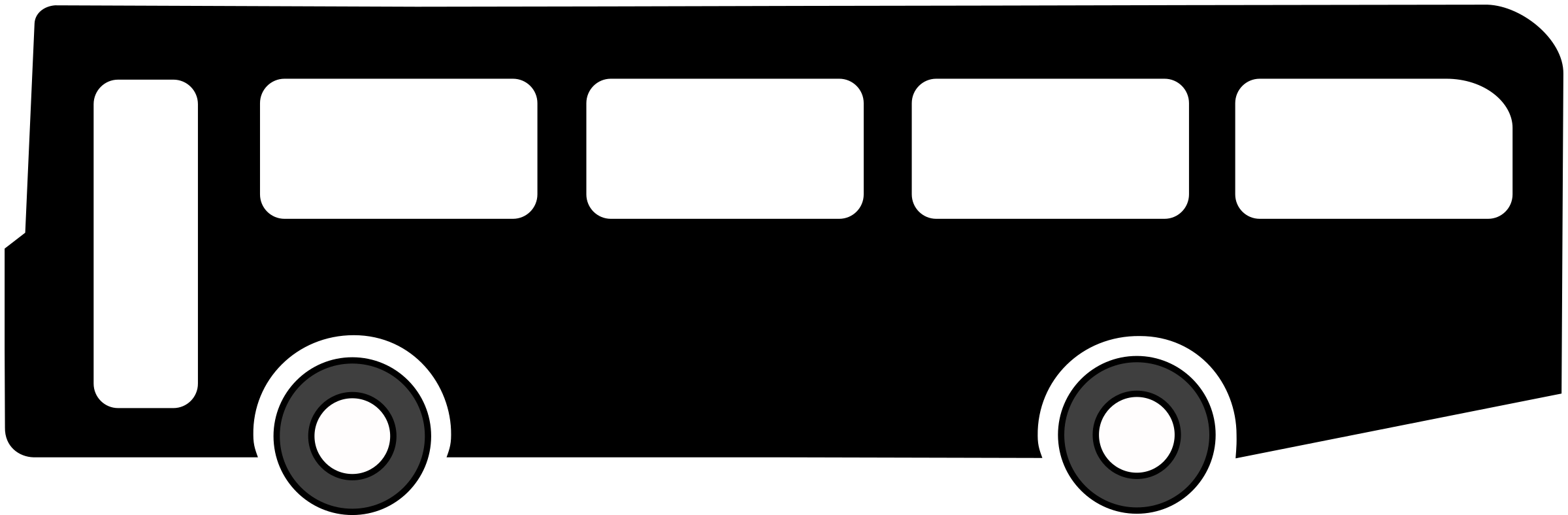 Bus clipart icon. Symbol black icons png