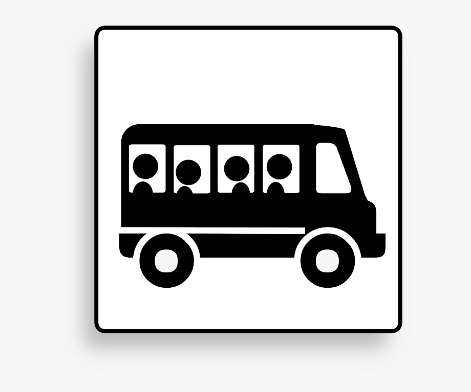 Bus clipart icon. Transportation vehicle motion