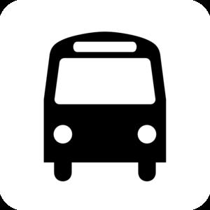 Station black white clip. Bus clipart icon