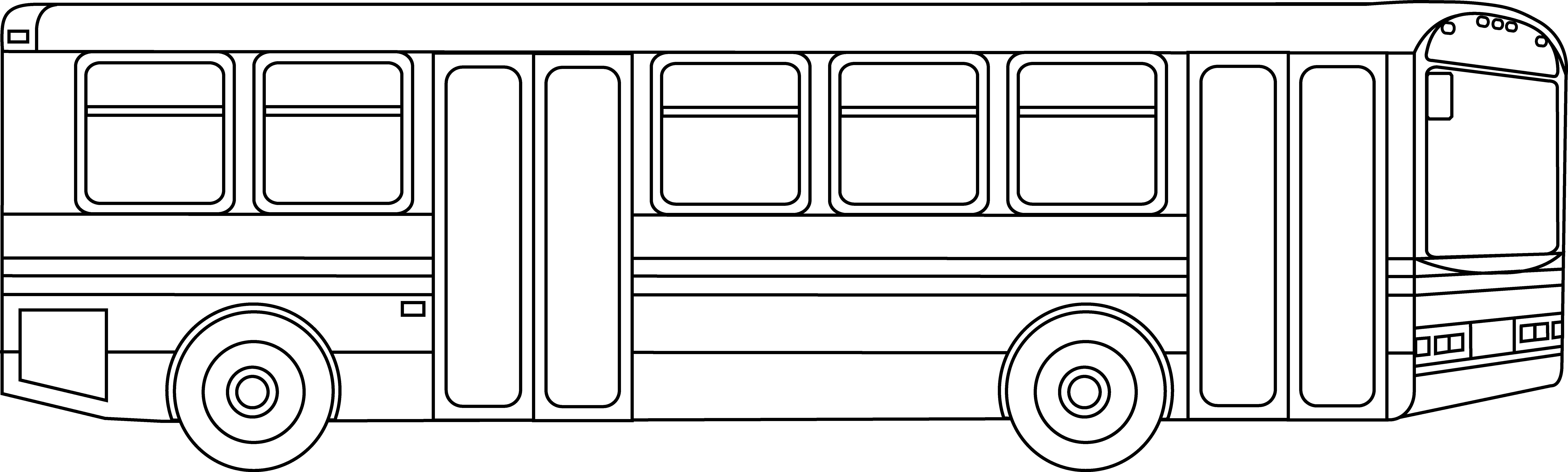 Public transportation outline free. Bus clipart mass transit