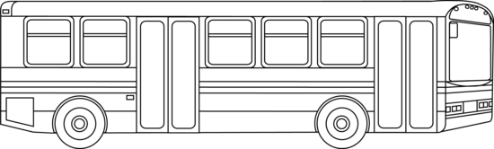 Bus clipart mass transit. Public transportation outline free