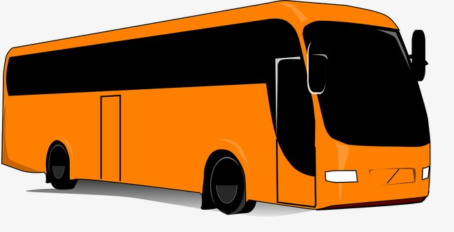 Bus clipart motor coach. Orange the travel png