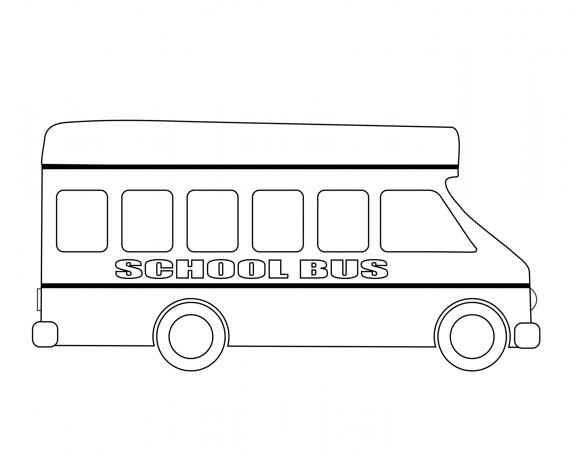 Bus Clipart Outline, Bus Outline Transparent FREE For