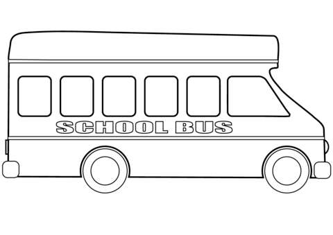 School coloring page free. Bus clipart printable
