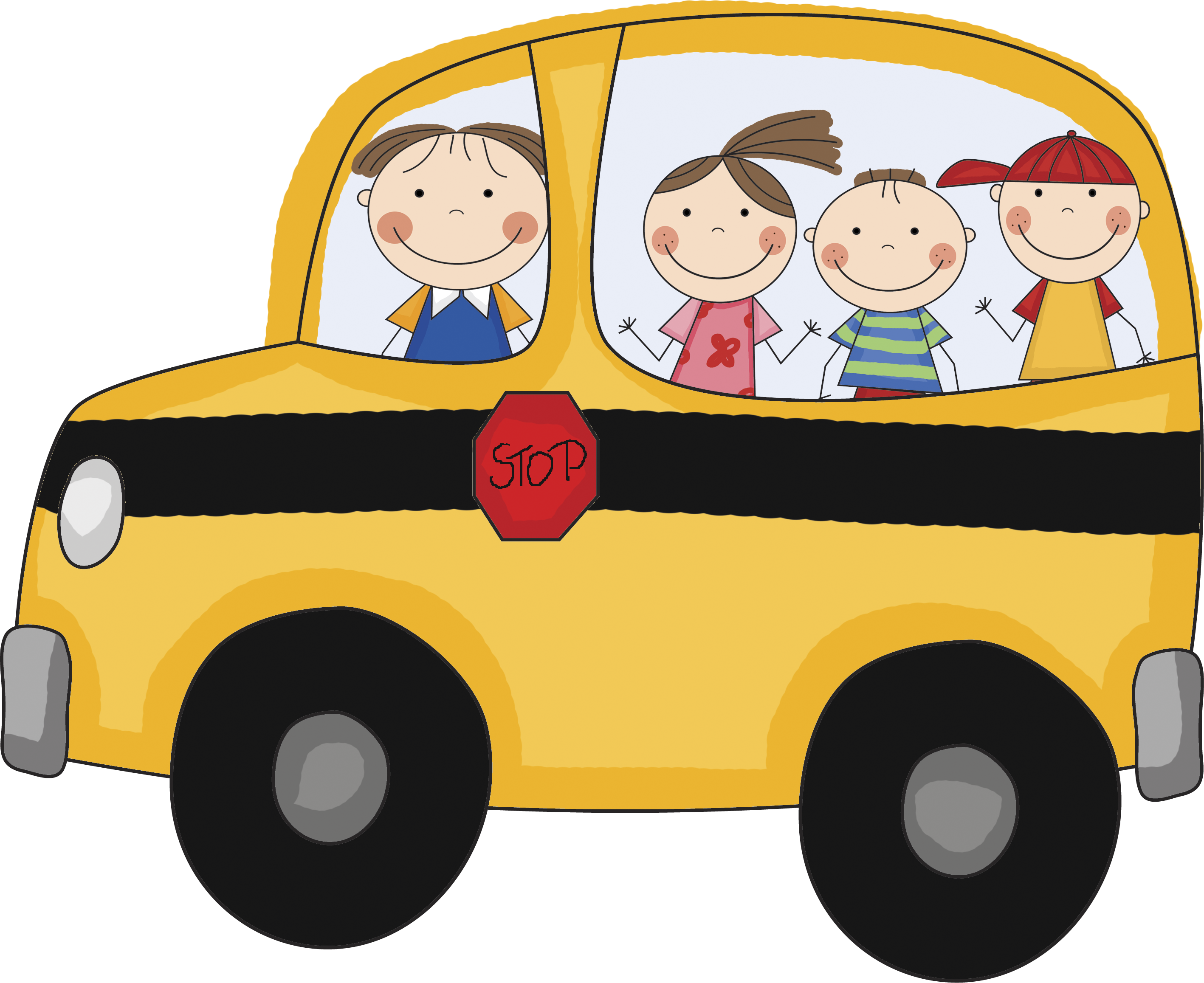 School to free images. Bus clipart printable
