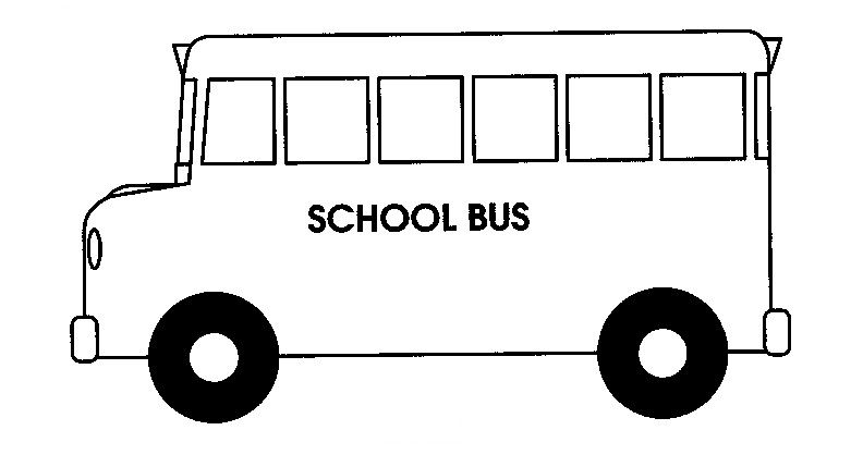 Bus clipart printable. Back to school black
