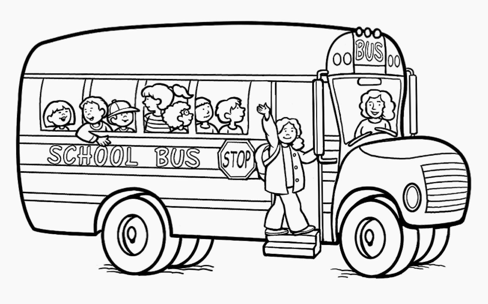 Fresh school black and. Bus clipart printable