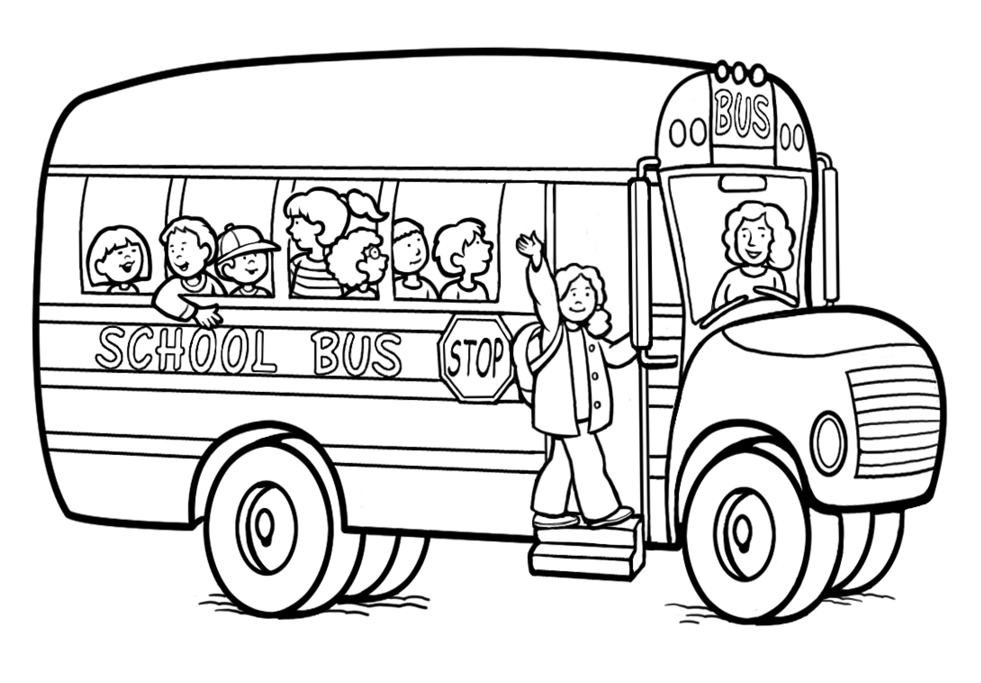 Bus clipart printable. School coloring pictures mssrainbows