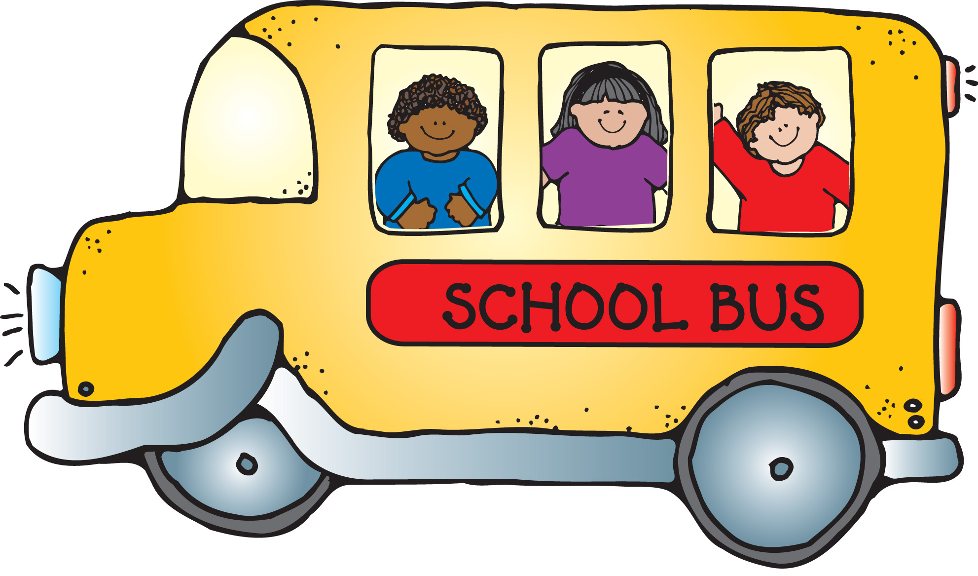 School for free images. Bus clipart printable