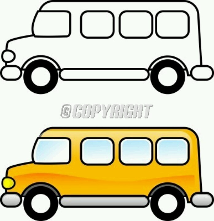 Bus clipart printable. School black and white