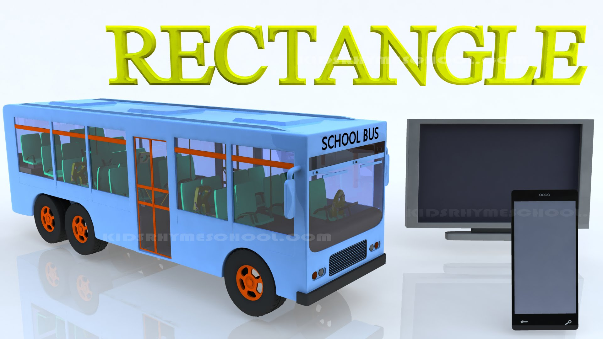 Bus clipart rectangle. Learn shapes for kids