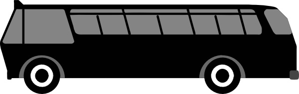 Side view clip art. Bus clipart rectangle