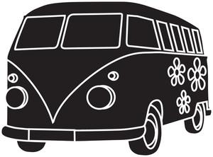 Free image truck illustration. Bus clipart retro