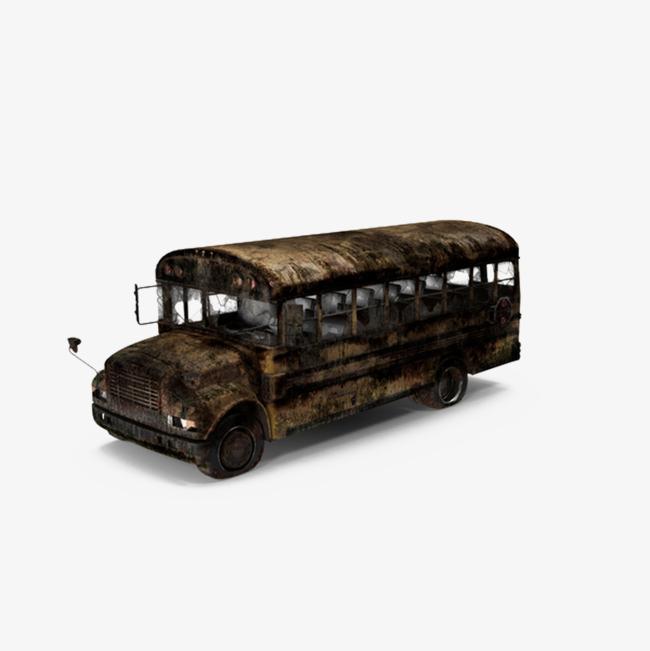 Bus clipart retro. Rusty school get png