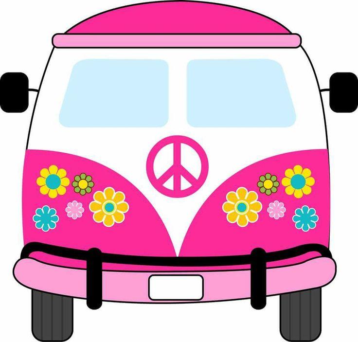 Bus clipart retro. Hippies vintage vw van