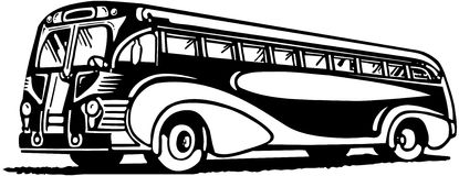 collection of vintage. Bus clipart retro