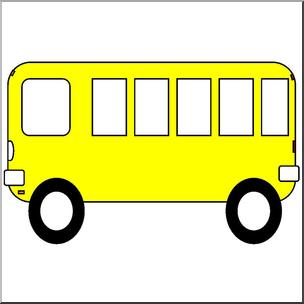 Clip art basic shapes. Bus clipart shape