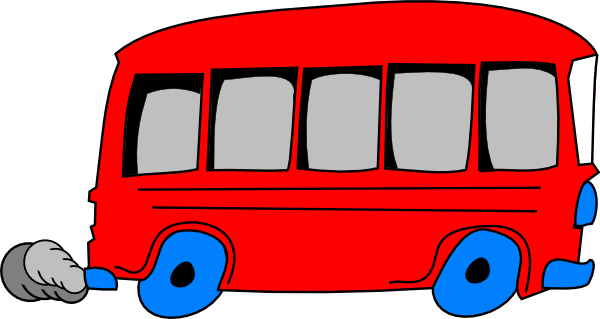 Free cartoon buses download. Bus clipart shape