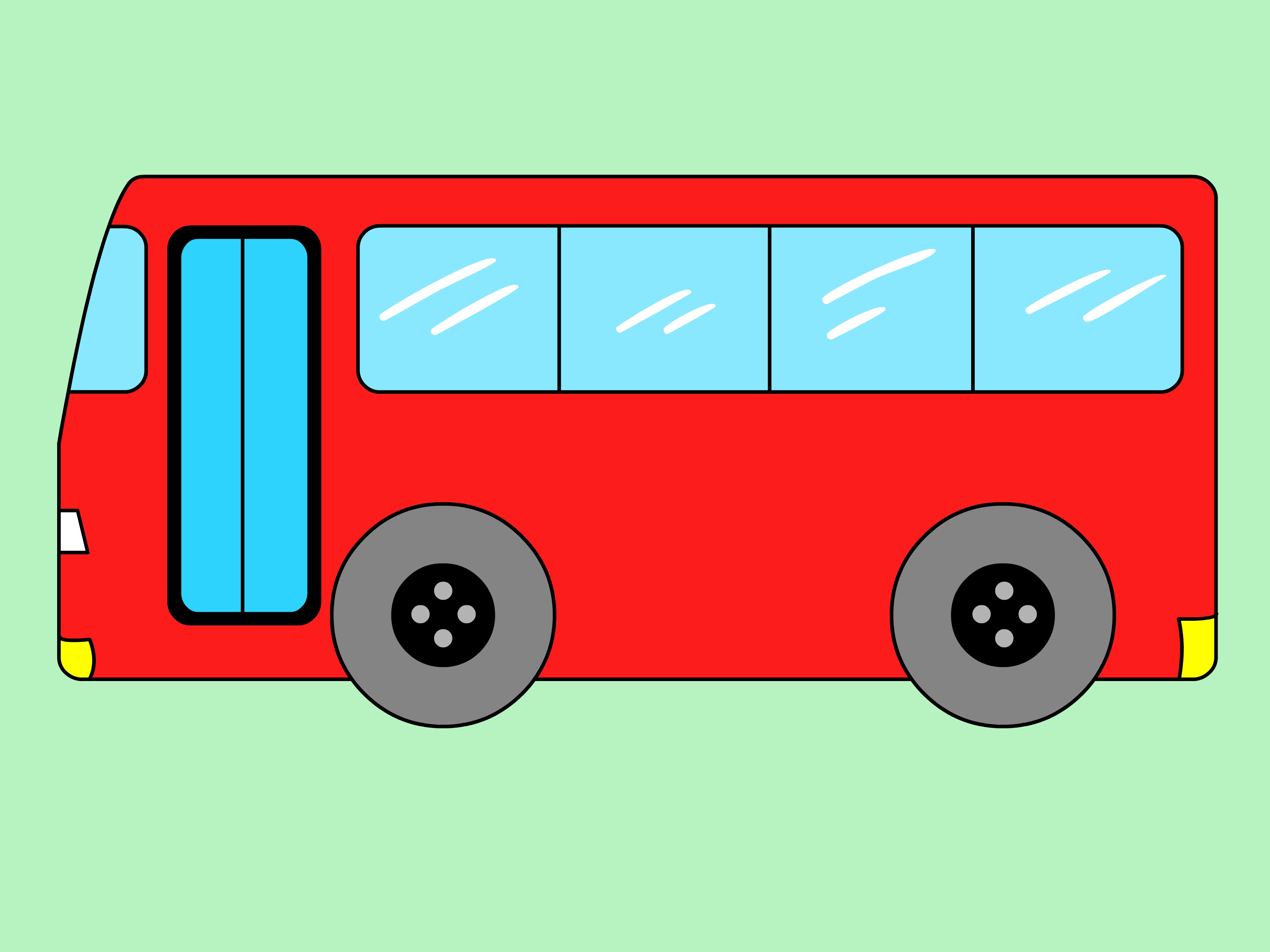 How to draw a. Bus clipart shape