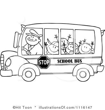 Bus clipart shape.  best school images