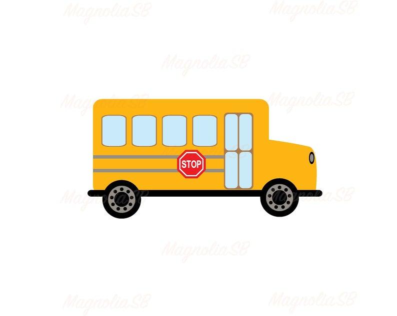 Bus clipart shape. School svg dxf cutting
