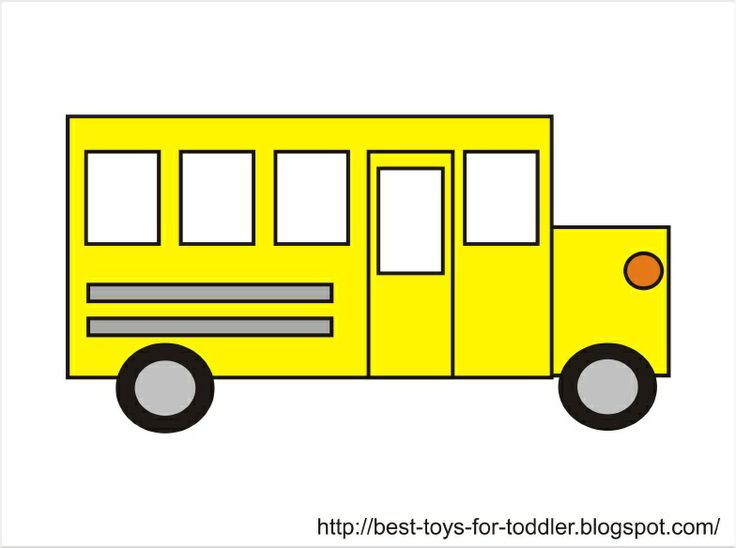 Pencil and in color. Bus clipart shape