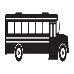 Bus clipart side view. School silhouette at getdrawings