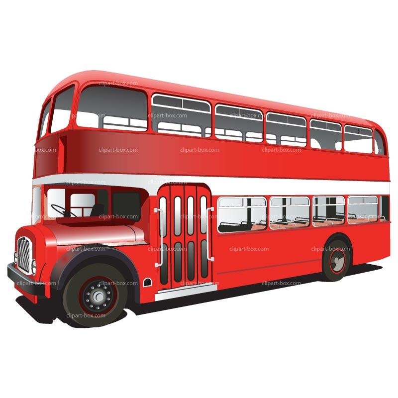 Double decker download. Bus clipart side view
