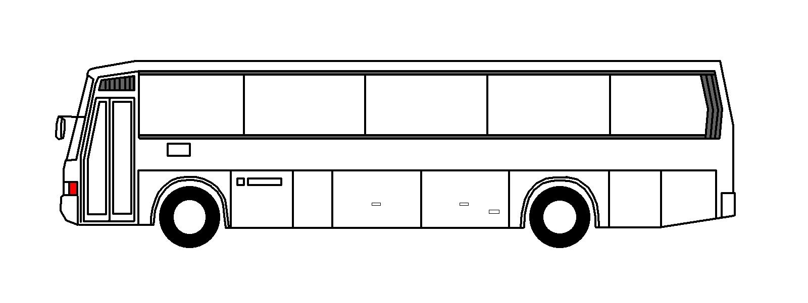 Bus clipart side view. Unique black and white