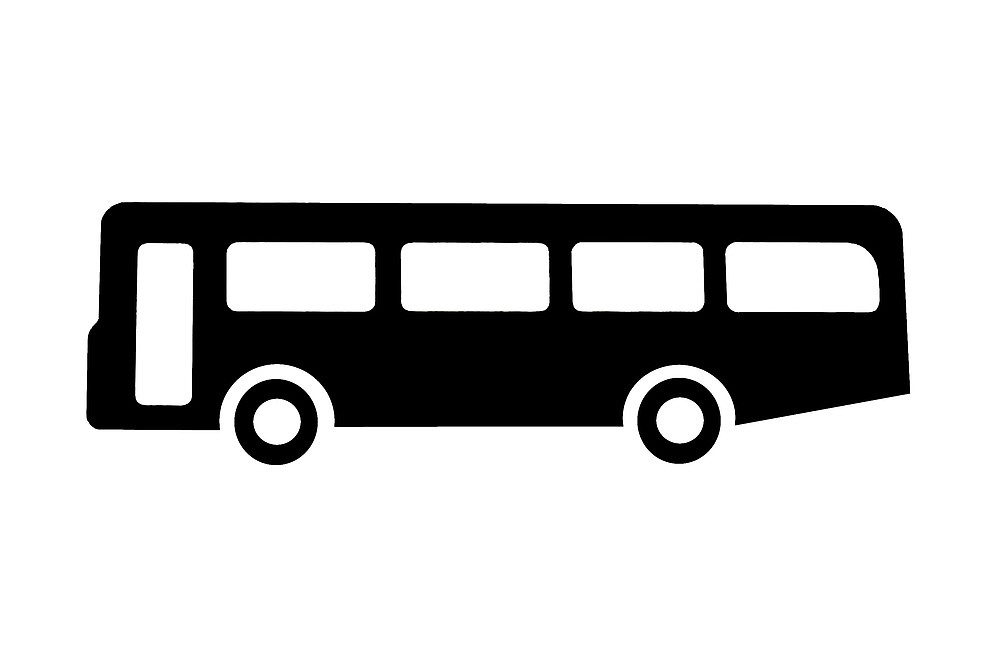 Coach clipart. Bus or sign as