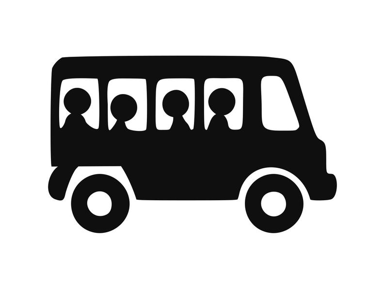 Bus clipart silhouette. School svg back to
