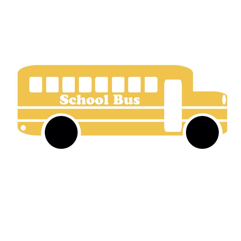 Clip art sillhouette school. Bus clipart silhouette