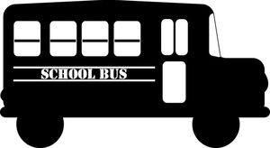 Bus clipart silhouette. School image cartoon in