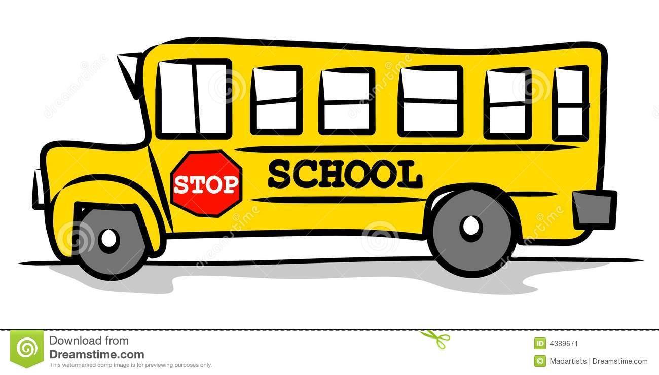 School sign . Bus clipart simple