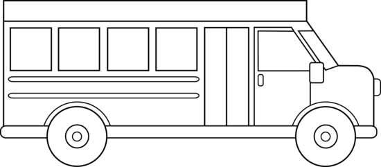 Bus clipart simple. Black and white clipartfest