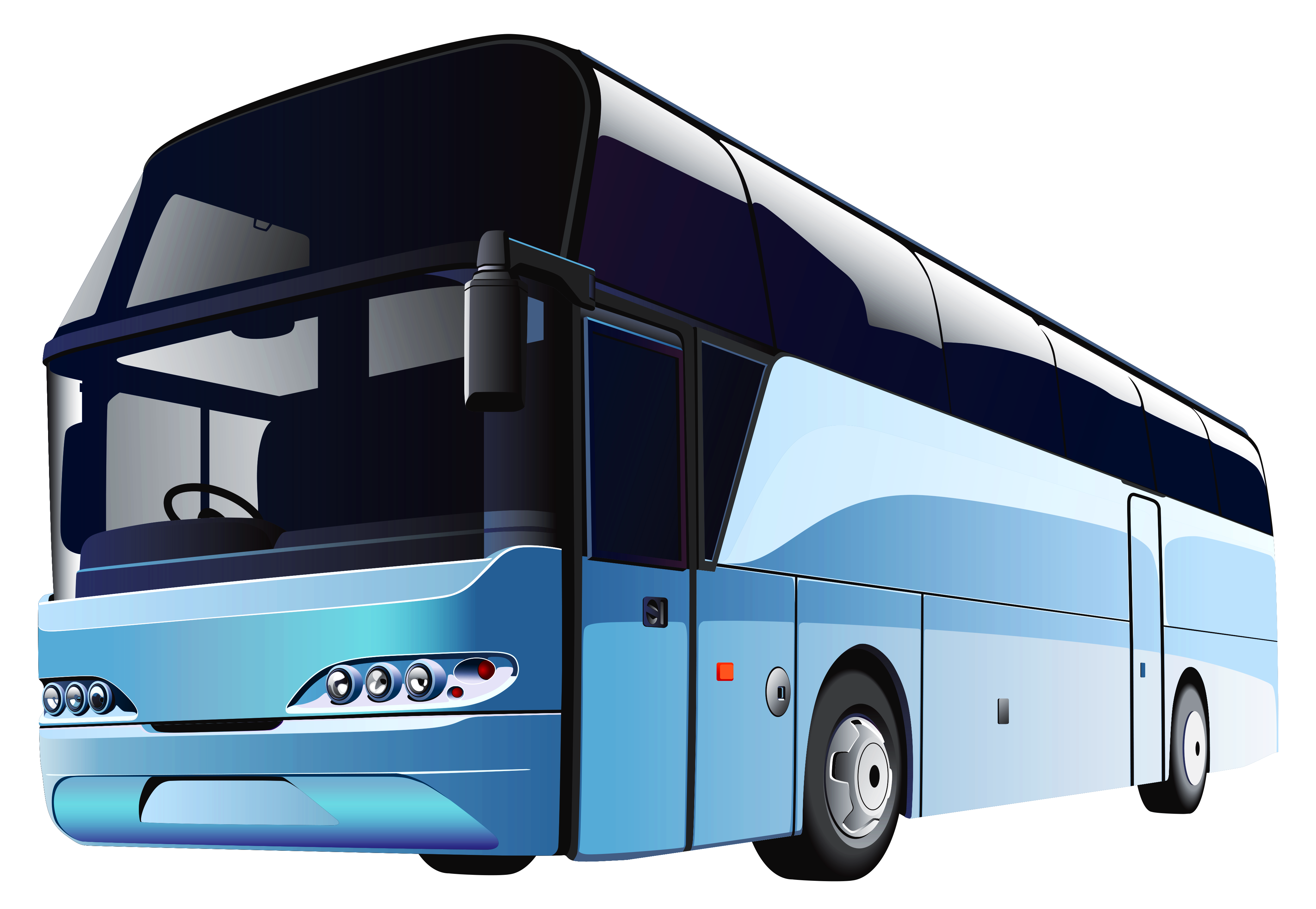 Blue png best web. Traveling clipart charter bus