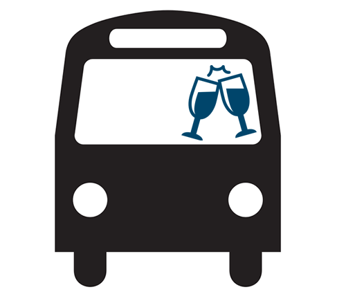 Pencil and in color. Bus clipart wedding