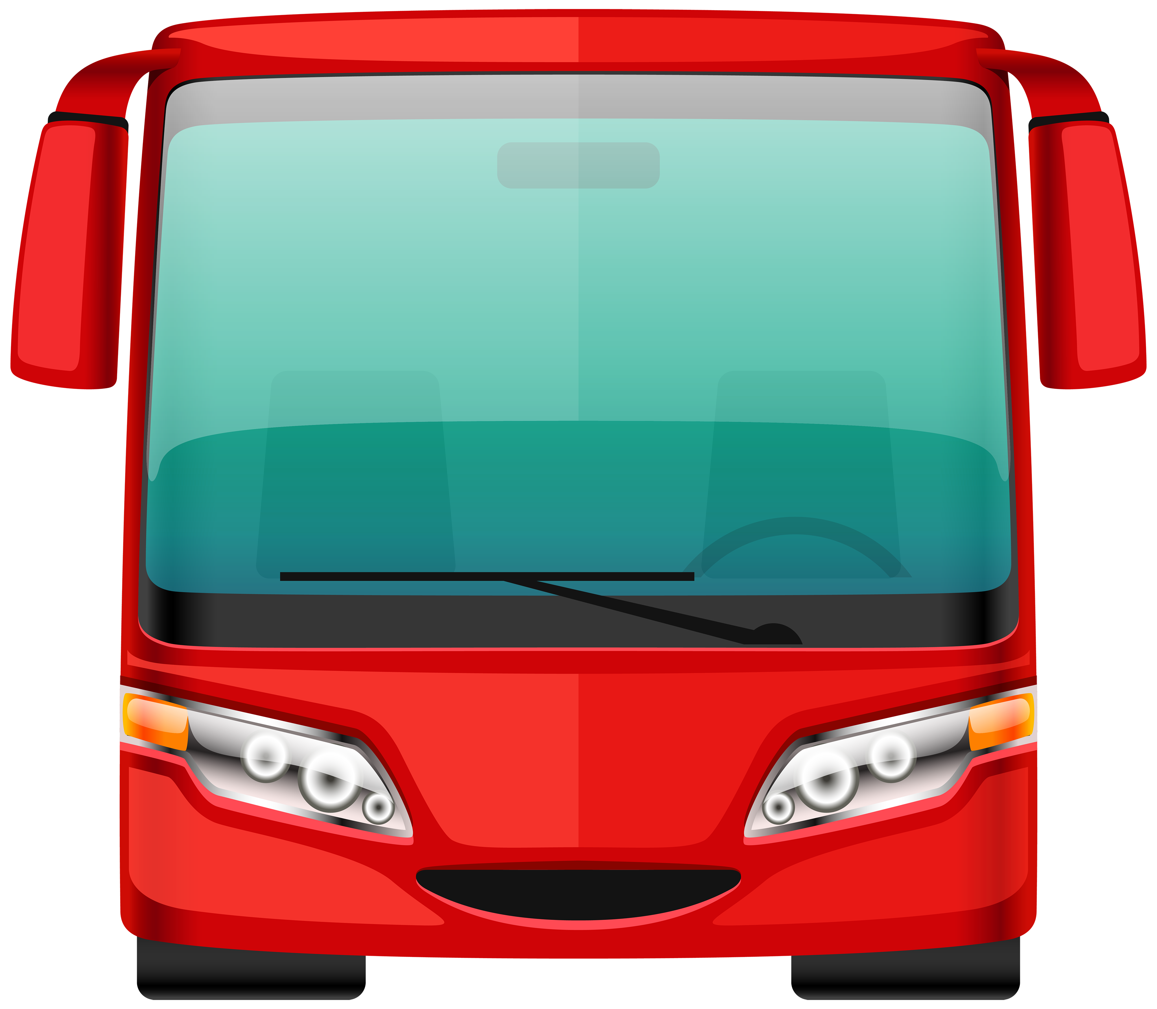 Red png best web. Bus clipart wedding