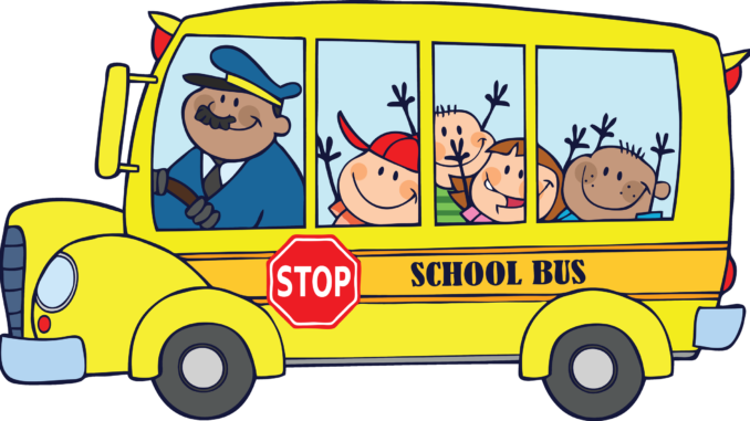 Free school black and. Bus clipart wedding