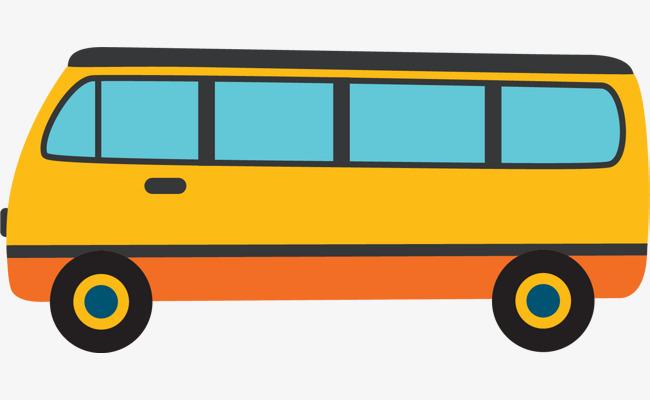 Bus clipart wedding. Cartoon yellow png image
