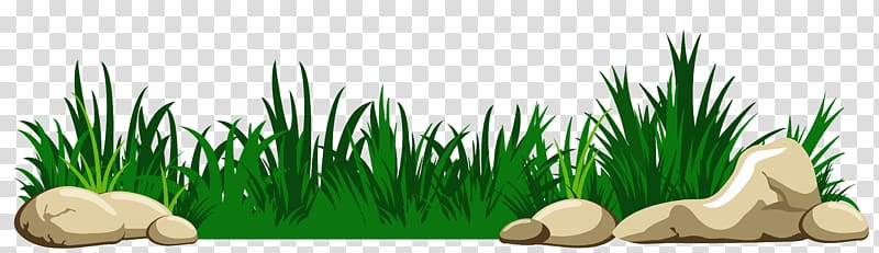 With rocks animated green. Clipart grass clear background