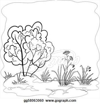 Bush clip art free. Bushes clipart black and white