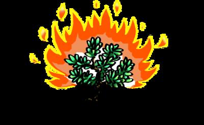 Image bush exodus clip. Moses clipart burning tree