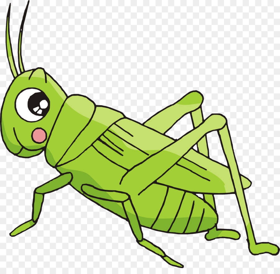 Cartoon crickets insect creative. Bush clipart comic