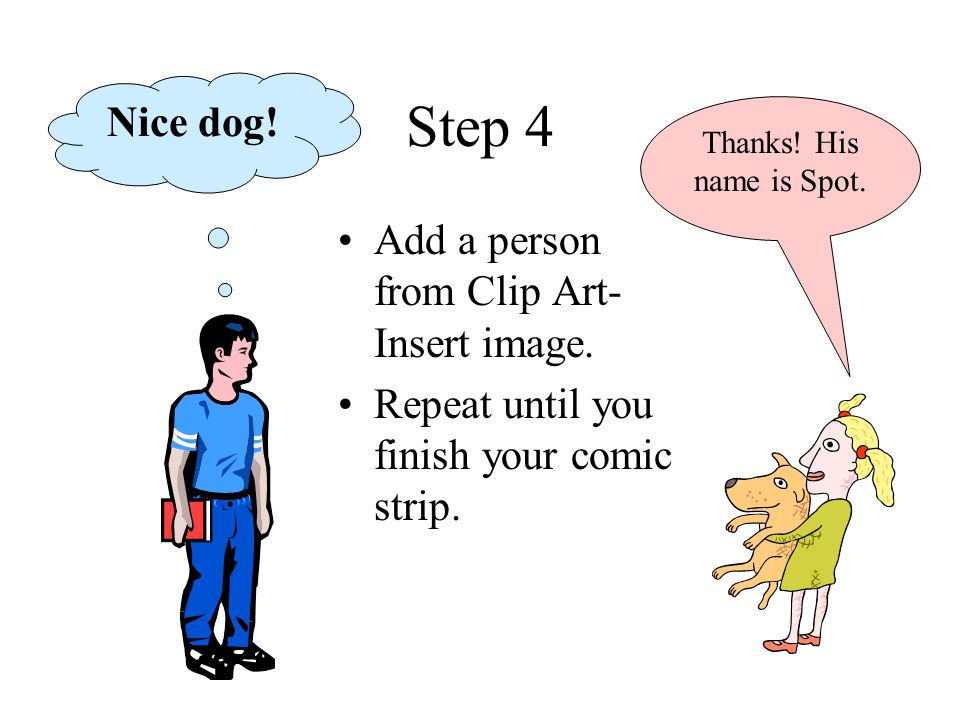 Strips in ms word. Bush clipart comic