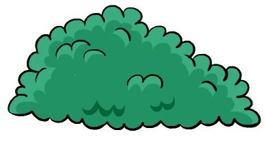 Bush clipart comic. Free cartoon cliparts download