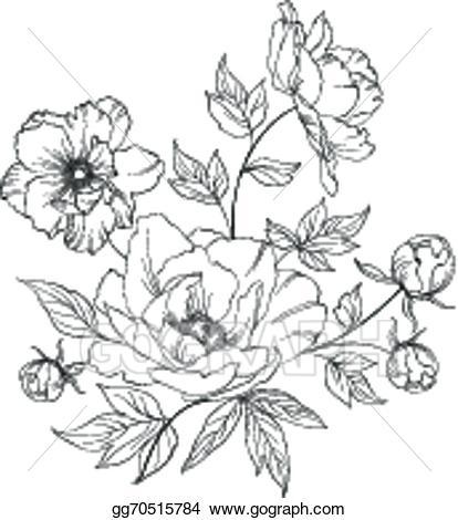 Bush clipart drawing. Vector art of beautiful