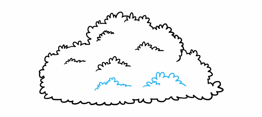 Bush clipart drawing. How to draw easy