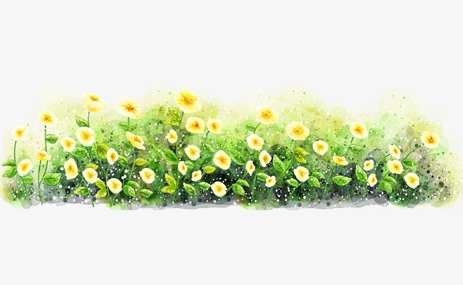Bush clipart flower. Flowers in the grass