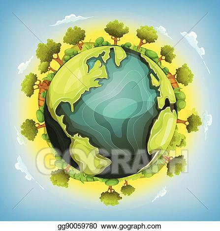 Eps vector earth planet. Bush clipart forest